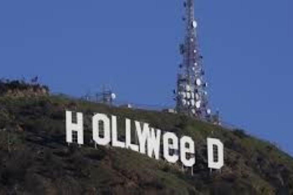En honor a la marihuana, cambiaron el letrero de Hollywood
