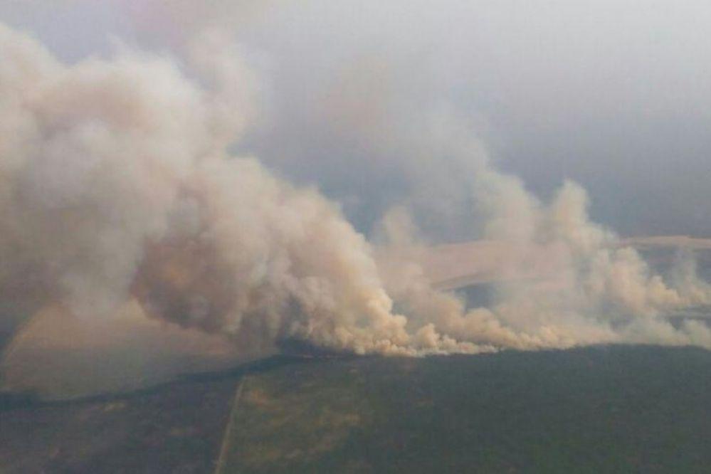 Incendios rurales: cuatro focos activos