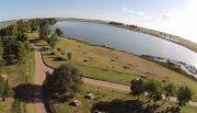 GENERAL PICO: Primera competencia de nado en la laguna