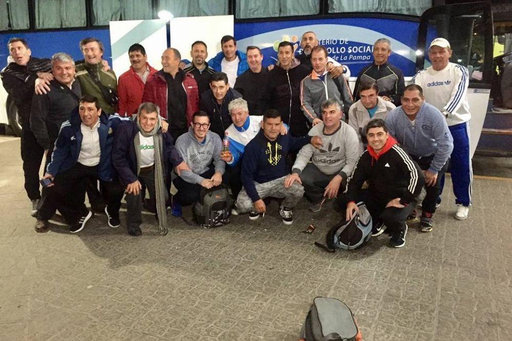 Veteranos de la liga pampeana de fútbol viajaron a Catamarca
