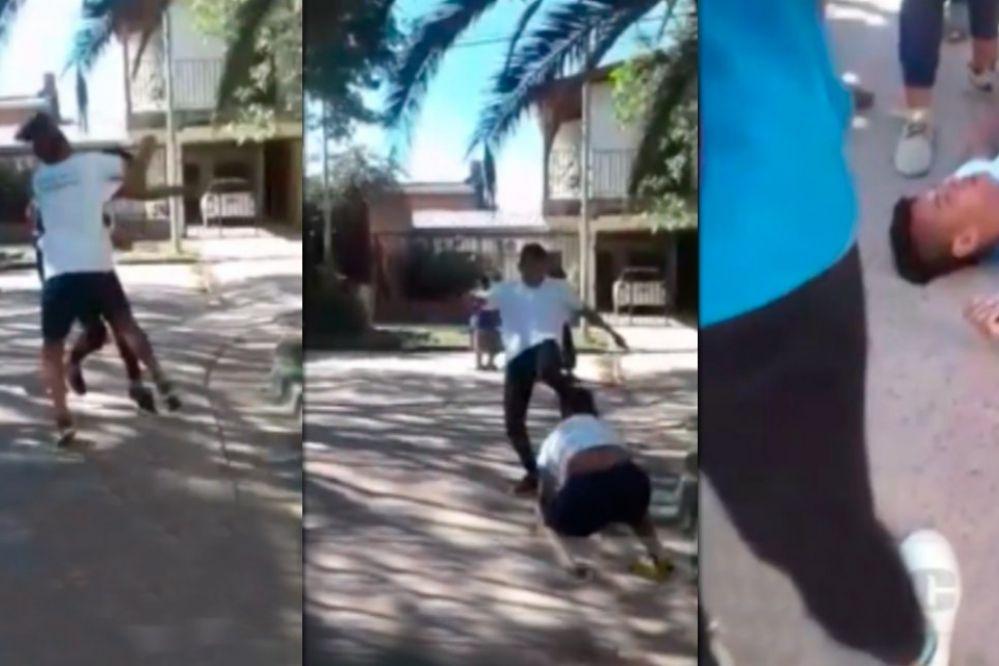 Video: Brutal pelea entre alumnos, un chico recibió una patada en la cara
