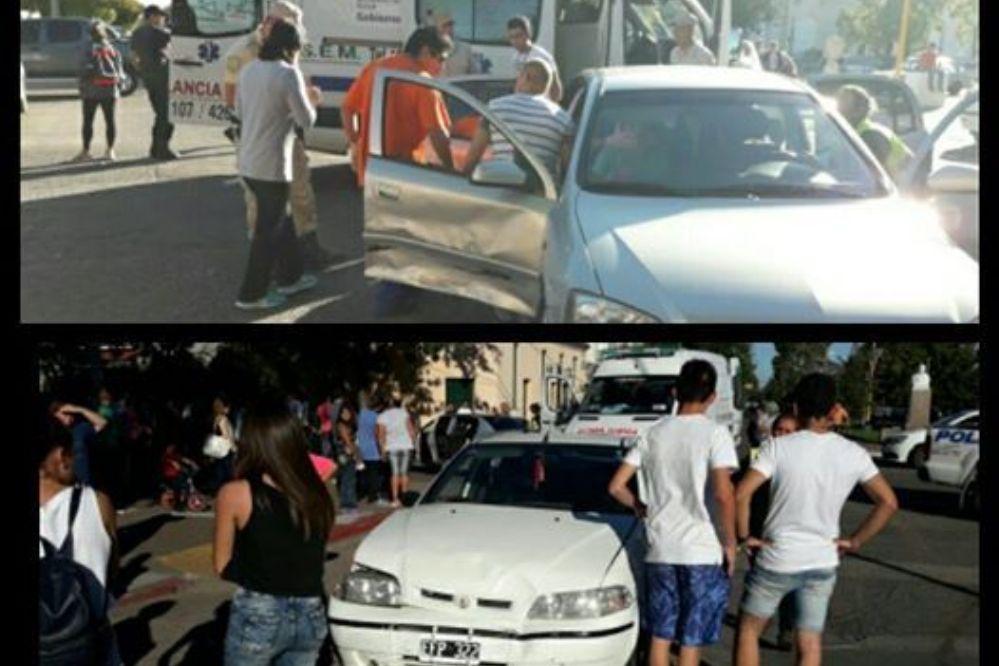 Fuerte choque en Avenida  San Martin y Calle 11-Mira el video y las fotos