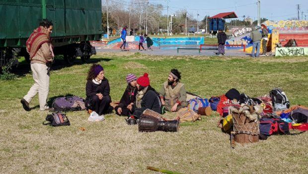 GENERAL PICO: Un grupo de personas con descendencia indígena hizo tributo a la Pachamama-Mira