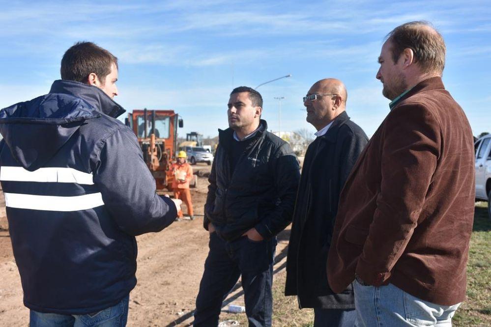 El intendente recorrió obras en ejecución